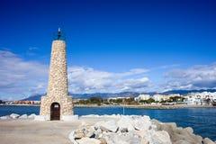 Faro de Puerto Banus Fotografía de archivo libre de regalías
