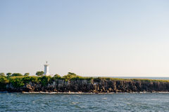 Faro de Puerto Corinto Imágenes de archivo libres de regalías