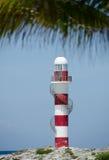 Faro de Punta Cancun Fotografía de archivo