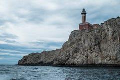 Faro de Punta Carena - isla de Capri Fotografía de archivo libre de regalías