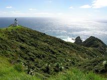 Faro de Reinga del cabo Imagen de archivo