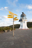 Faro de Reinga del cabo en Nueva Zelanda Fotografía de archivo