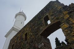 Faro de Sacramento del de Colonia, Uruguay foto de archivo