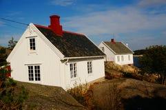 Faro de Stromtangen en Kragero, Noruega imagenes de archivo