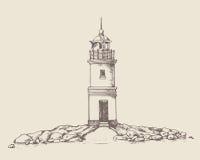 Faro de Tokarevskiy en Vladivostok Imagenes de archivo