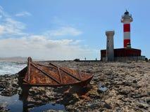 Faro De Toston,  Fuerteventura. Royalty Free Stock Photography