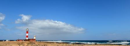 Faro De Toston,  Fuerteventura. Royalty Free Stock Images