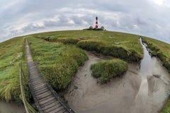 Faro de Westerhever Imagen de archivo libre de regalías