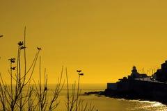Faro de Youghal que mira hacia fuera en el Atlántico Imagenes de archivo