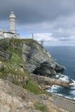 Faro del alcalde de Cabo, Santander Fotos de archivo