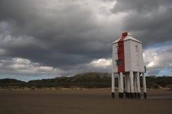 faro del Burnham-su-mare dal mare Fotografia Stock
