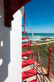 Faro del cabo Agulhas, Suráfrica Fotografía de archivo libre de regalías