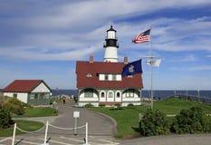 Faro del faro di Portland, Maine Immagini Stock Libere da Diritti