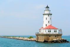 Faro del embarcadero de la marina de Chicago Imágenes de archivo libres de regalías