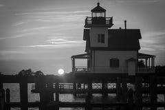 Faro del fiume di Roanoke Fotografia Stock Libera da Diritti