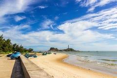 Faro del KE GA, il più vecchio faro del Vietnam Immagine Stock Libera da Diritti