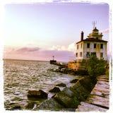Faro del lago Erie Fotografia Stock