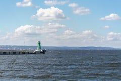 Faro del mar Báltico de Polonia Imagen de archivo