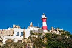 Faro del Mar Mediterraneo fotografia stock