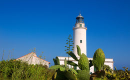 Faro del Mola del La de Formentera cerca de Ibiza imagen de archivo libre de regalías