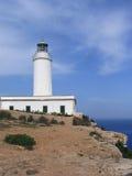 Faro del Mola del La (Formentera, España) Imagen de archivo libre de regalías