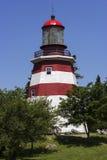 Faro del museo de la isla del sello en Nova Scotia Fotografía de archivo libre de regalías