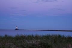 Faro del nord del frangiflutti Fotografia Stock Libera da Diritti