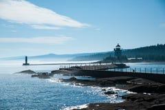 Faro del nord della riva del lago Superiore Fotografia Stock Libera da Diritti