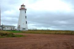 Faro del norte del cabo en PEI Fotografía de archivo libre de regalías
