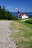 Faro del oeste de Quoddy Foto de archivo libre de regalías