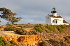 Faro del Point Loma en el parque nacional de Cabrillo fotos de archivo libres de regalías