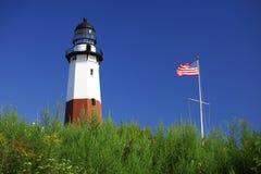 Faro del ponit di Montauk, Long Island, New York Fotografia Stock