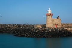 Faro del porto alla notte Howth dublino l'irlanda Fotografie Stock Libere da Diritti