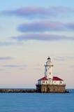 Faro del porto del Chicago Fotografie Stock