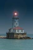 Faro del porto del Chicago Immagine Stock