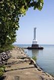 Faro del porto del Huron Fotografia Stock Libera da Diritti