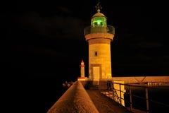 Faro del porto di Bastia Immagini Stock Libere da Diritti