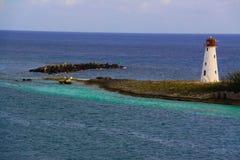 Faro del porto di Nassau Immagine Stock