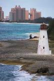 Faro del porto di Nassau Immagini Stock