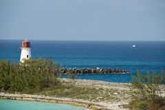 Faro del porto di Nassau Immagine Stock Libera da Diritti