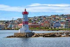Faro del porto di St-Pierre Fotografie Stock Libere da Diritti