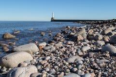Faro del puerto de Aberdeen Foto de archivo libre de regalías