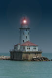 Faro del puerto de Chicago Imagen de archivo