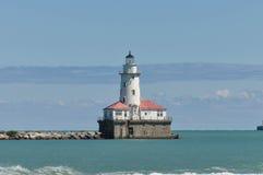 Faro del puerto de Chicago Fotos de archivo
