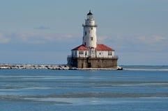 Faro del puerto de Chicago Imágenes de archivo libres de regalías