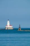 Faro del puerto de Chicago Imagenes de archivo