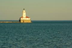 Faro del puerto de Chicago Fotografía de archivo