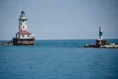 Faro del puerto de Chicago Fotos de archivo libres de regalías