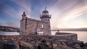 Faro del puerto de Howth fotos de archivo