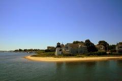 Faro del puerto del bacalao de cabo Imagen de archivo libre de regalías